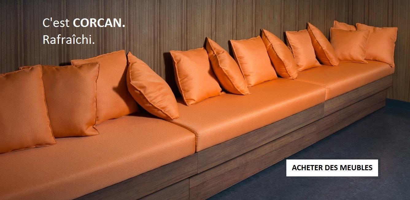 Coussins et oreillers orange