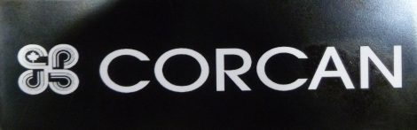 Laser engraved CORCAN sign and logo