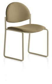Upholstered Stacking Chair Sled base no arms