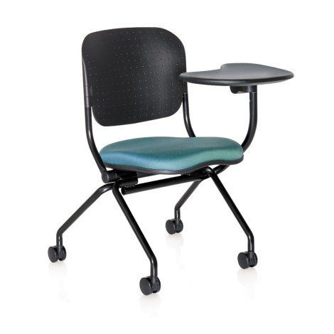 Navigator nesting chair - Polypropylene back tablet arm left