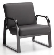 Onyx arm chair black metal frame and cushions