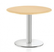 d-base with round wood top