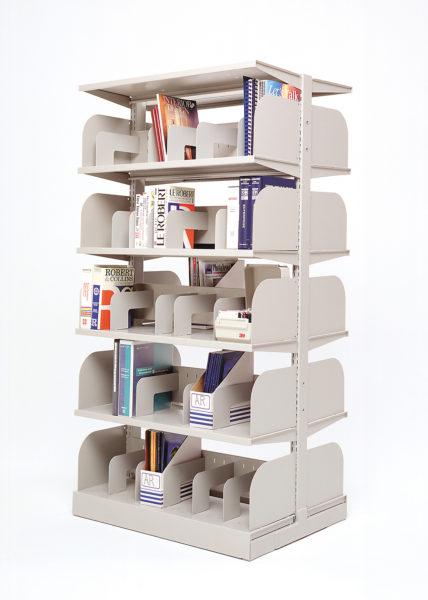 Modular steel shelving unit