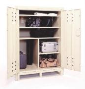 Vehicle storage locker with frame