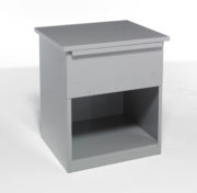 metal night table with one drawer