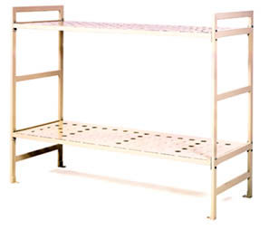 Cell bunk beds with metal frame