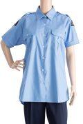 Chemise à manche courte Femme Bleu