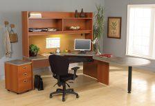Bureau avec mobilier QR Flexstation