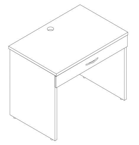 Dormaflex bureau d'étudiant de tiroir simple