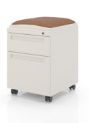Series XXI pedestal with two drawers and cushion
