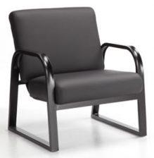 Onyx fauteuil armature en métal noir et coussins