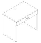 Dormaflex single drawer student desk