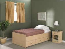Dormaflex captains bed with 3 drawers