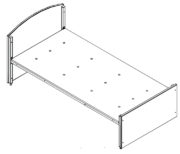 Dormaflex single bed frame