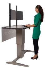 Woman standing at a Smartpods desk