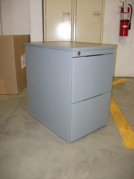 2 drawer mobile pedestal filing cabinet - grey