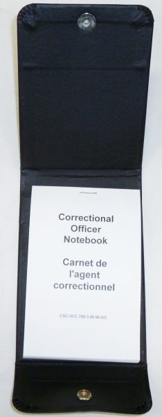 Correctional officer notebook