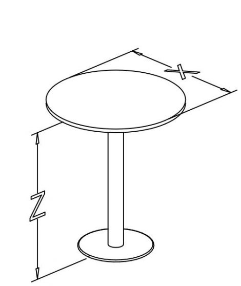 round table, disc base, paintedch