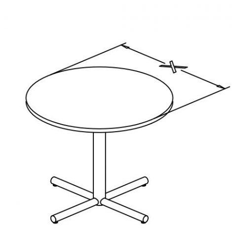 e base round table X configuration