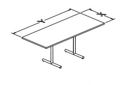 e base flip top rectangular T conf