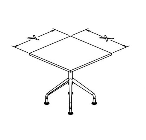 t base fixed tables square X conf