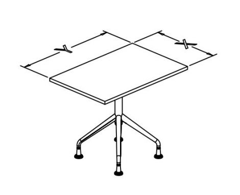 t base fixed tables rectangular x conf