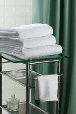 Shower Curtain and folder towels